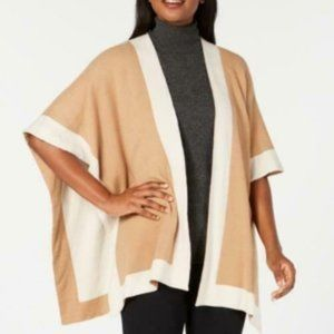 Charter Club Solid Knit Reversible Poncho Wrap